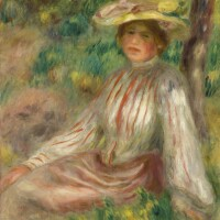 134. pierre-auguste renoir | femme au jardin