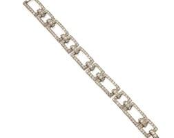 479. platinum and diamond bracelet