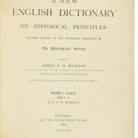 305. oxford english dictionary. sir james a.h. murray (editor). oxford: 1888-1928. 20 volumes