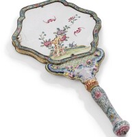 307. a cantonese enamel hand mirror late 18th/early 19th century