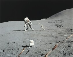 160. apollo 15 - dave scott conducting experiments on the lunar surface