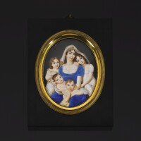 37. 象牙細密畫,喬瓦尼·巴蒂斯塔·希戈拉繪製,附簽名gigola,約1812/13年 | 象牙細密畫,喬瓦尼·巴蒂斯塔·希戈拉繪製,附簽名gigola,約1812/13年