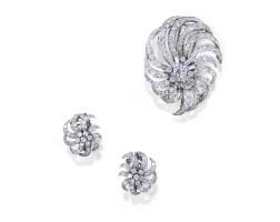 34. diamond demi-parure, van cleef & arpels, 1950s