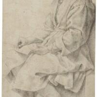 13. follower of andrea del sarto   study of a man writing: zacharias