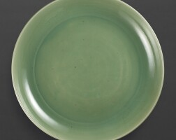 3007. amassive longquan celadon charger ming dynasty, 15th century |