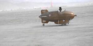 Zeppelini test flight at Blackrock