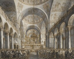 338. giovanni antonio canal, called canaletto | the presentation of the doge in s. marco
