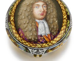 11. david rousseau & p. huaud à genève | afine, rareand small gold verge watch with polychrome enamel painted casesigned p. huaud fecitcirca 1685