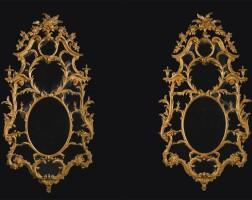 21. 喬治三世泥金木鏡一對, 約1760年,傳由約翰·林內爾製造 |