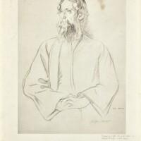 5. sir william rothenstein | untitled (rabindranath tagore)