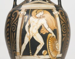 69. an apulian red-figured amphora, attributed to close to the ganymede painter, circa 350-330 b.c.