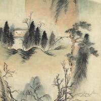 516. 石濤(款)   山房夜語