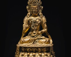 304. a gilt-bronze figure of ksitigarbha ming dynasty, 15th / 16th century |
