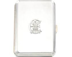 3. the silver cigarette case, maker's mark alfred clark, london, 1908