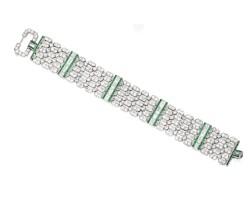 46. emerald and diamond bracelet