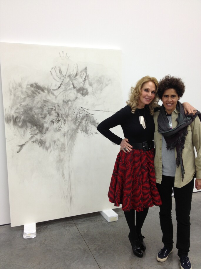 Tiqui Atencio and Julie Mehretu