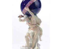 12. a rare meissen figure of hercules supporting a celestial globe circa 1760-65