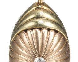 432. a jewelled gold egg pendant, 1908-1917