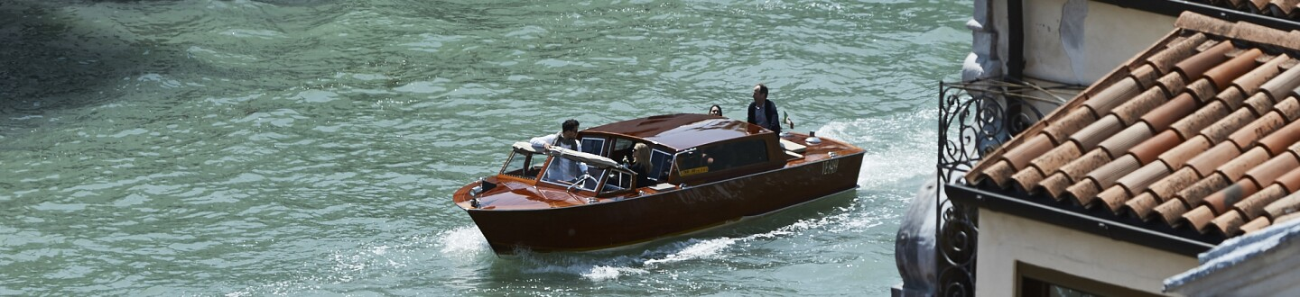 Water taxi Grand Canal Venice Peggy Guggenheim Collection