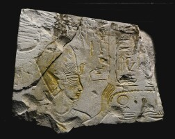 6. an egyptian limestone relief fragment, 19th dynasty, reign of ramesses ii, 1279-1213 b.c.