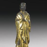 13. a gilt-bronze figure of ananda northern wei dynasty