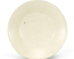 310. an inciseddingyao lobed 'floral' dish song dynasty |