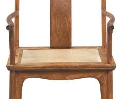 10. a huanghuali yokeback armchair (sichutou guanmaoyi) 17th century