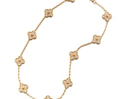 2. gold and diamond 'vintagealhambra' necklace, van cleef & arpels