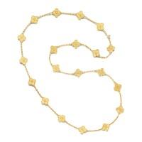 1608. gold necklace, 'vintage alhambra', van cleef & arpels