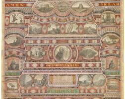 69. a monumental illuminated micrographic manuscript, levi van gelder, [chicago: ca. 1865]