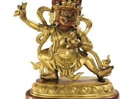 38. 清十八世紀 鎏金銅金剛手菩薩立像
