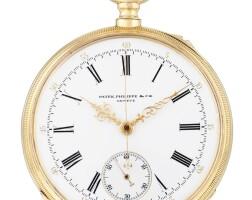 197. 百達翡麗(patek philippe)   粉紅金計時懷錶,1882年製。