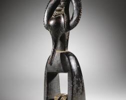 1. poulie de métier à tisser, guro, côte d'ivoire |