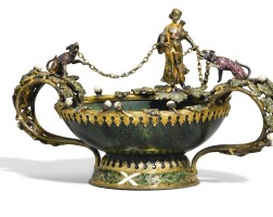 721. a hardstone tazza with jewelled and enamelled silver-gilt mounts, austro-hungarian, circa 1900
