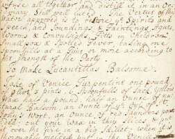 304. recipe book, manuscript, 17th-18th century