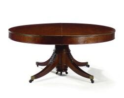 420. a mahogany extending table regency, circa 1820