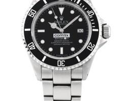 53. 勞力士(rolex)   16600型號「comex sea-dweller」精鋼鍊帶腕錶備日期顯示,年份約1998。