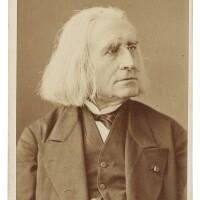 188. liszt, franz. carte-de-visite photograph signed