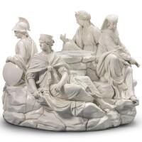 385. an italian porcelain white allegorical large figure group circa1800