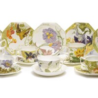 517. a group of ten rozenburg cups and saucers 1904-14