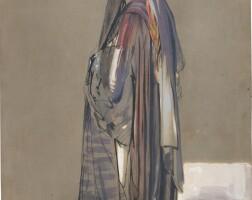 427. john frederick lewis, r.a. | a veiled egyptian girl, cairo