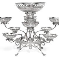 128. a george iii silver nine-basket epergne, thomas pitts, london, 1778 |