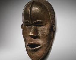 29. masque en laiton, dan, côte d'ivoire |