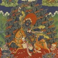 406. a thangka depicting shri devi china, qing dynasty, 18th century