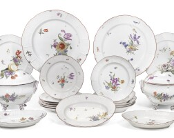 55. a ludwigsburg porcelain dinnerservice, circa 1765-1775