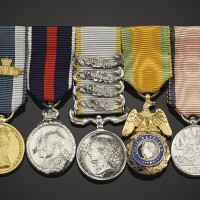 38. miniature medals: a group of five dress miniatures mounted as worn by the 2nd duke of cambridge, comprising: |