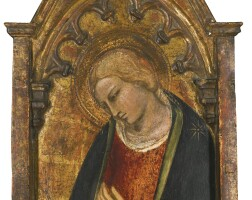 110. spinello di luca spinelli, called spinello aretino | virgin of the annunciation