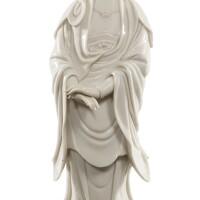 121. 清十七/十八世紀 德化白釉觀音立像