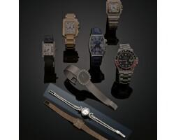 7. an 18 carat gold and diamond lady's wristwatch, bucherer, circa 1960