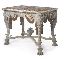 16. a german baroque carved and polychrome-painted console table probably berlin